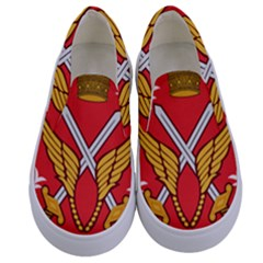 Seal Of The Imperial Iranian Army Aviation  Kids  Canvas Slip Ons