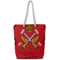 Seal Of The Imperial Iranian Army Aviation  Full Print Rope Handle Tote (small)