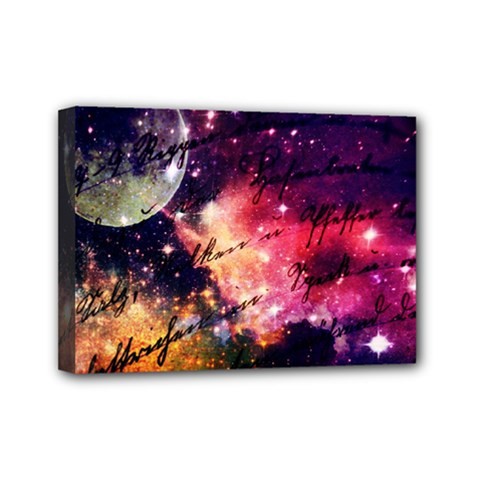 Letter From Outer Space Mini Canvas 7  X 5