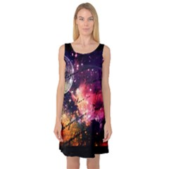 Letter From Outer Space Sleeveless Satin Nightdress