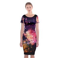 Letter From Outer Space Classic Short Sleeve Midi Dress