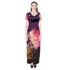 Letter From Outer Space Short Sleeve Maxi Dress