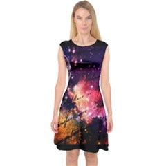 Letter From Outer Space Capsleeve Midi Dress