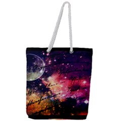 Letter From Outer Space Full Print Rope Handle Tote (large)