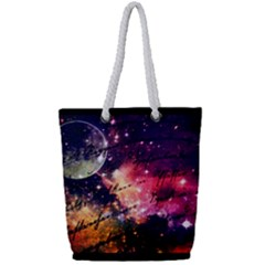 Letter From Outer Space Full Print Rope Handle Tote (small)