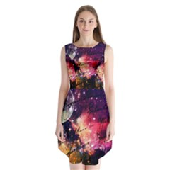 Letter From Outer Space Sleeveless Chiffon Dress