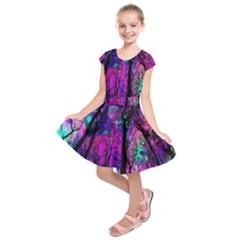 Magic Forest Kids  Short Sleeve Dress