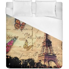 Vintage Paris Carte Postale Duvet Cover (california King Size)