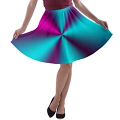 Silk Illusions A Line Skater Skirt