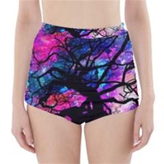 Star Field Tree High Waisted Bikini Bottoms