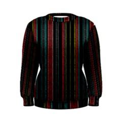 Multicolored Dark Stripes Pattern Women s Sweatshirt