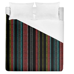Multicolored Dark Stripes Pattern Duvet Cover (queen Size)