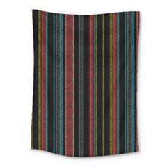 Multicolored Dark Stripes Pattern Medium Tapestry