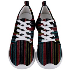 Multicolored Dark Stripes Pattern Men s Lightweight Sports Shoes