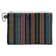Multicolored Dark Stripes Pattern Canvas Cosmetic Bag (xl)