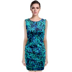 Teal Leafs Classic Sleeveless Midi Dress