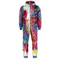Rainbow Owl Hooded Jumpsuit (men)