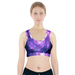 Ultra Violet Whirlpool Galaxy Sports Bra With Pocket