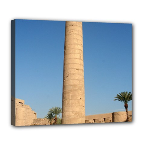 Temple Of Karnak Luxor Egypt  Deluxe Canvas 24  X 20