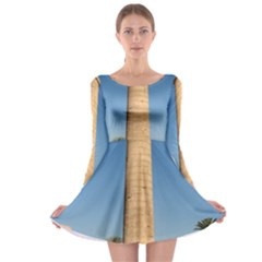 Temple Of Karnak Luxor Egypt  Long Sleeve Skater Dress