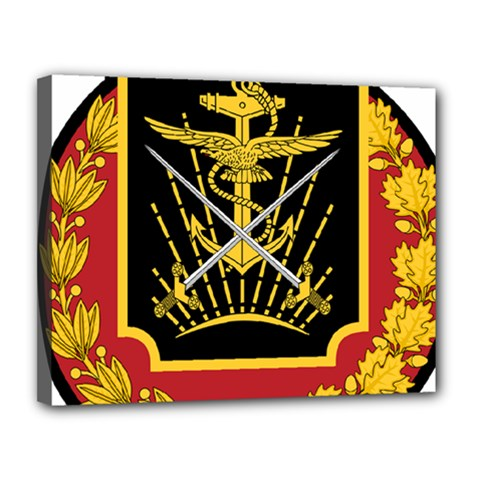 Logo Of Imperial Iranian Ministry Of War Canvas 14  X 11