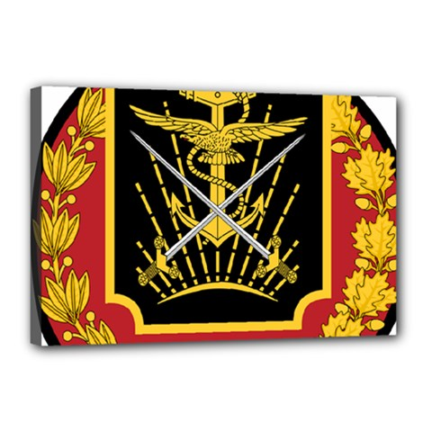 Logo Of Imperial Iranian Ministry Of War Canvas 18  X 12