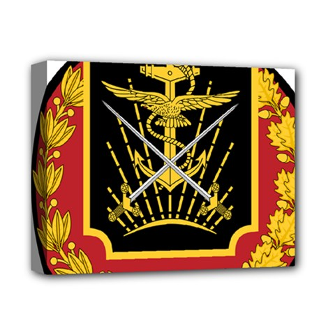 Logo Of Imperial Iranian Ministry Of War Deluxe Canvas 14  X 11