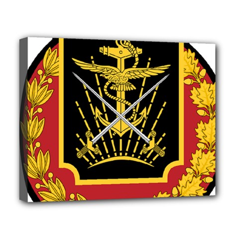 Logo Of Imperial Iranian Ministry Of War Deluxe Canvas 20  X 16