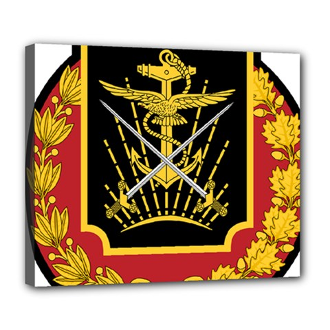 Logo Of Imperial Iranian Ministry Of War Deluxe Canvas 24  X 20