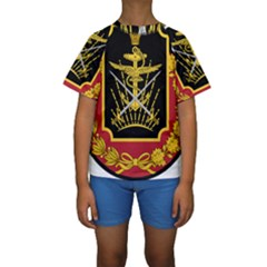 Logo Of Imperial Iranian Ministry Of War Kids  Short Sleeve Swimwear