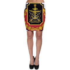 Logo Of Imperial Iranian Ministry Of War Bodycon Skirt