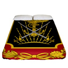Logo Of Imperial Iranian Ministry Of War Fitted Sheet (queen Size)