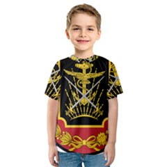 Logo Of Imperial Iranian Ministry Of War Kids  Sport Mesh Tee