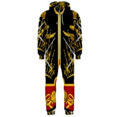 Logo Of Imperial Iranian Ministry Of War Hooded Jumpsuit (men)