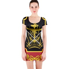 Logo Of Imperial Iranian Ministry Of War Short Sleeve Bodycon Dress