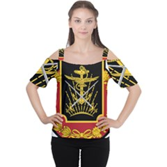 Logo Of Imperial Iranian Ministry Of War Cutout Shoulder Tee