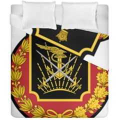 Logo Of Imperial Iranian Ministry Of War Duvet Cover Double Side (california King Size)