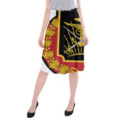 Logo Of Imperial Iranian Ministry Of War Midi Beach Skirt