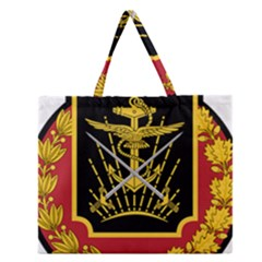 Logo Of Imperial Iranian Ministry Of War Zipper Large Tote Bag