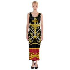 Logo Of Imperial Iranian Ministry Of War Fitted Maxi Dress