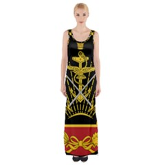 Logo Of Imperial Iranian Ministry Of War Maxi Thigh Split Dress