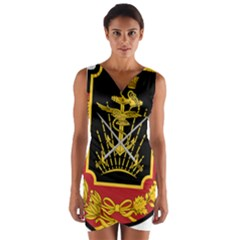 Logo Of Imperial Iranian Ministry Of War Wrap Front Bodycon Dress