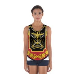 Logo Of Imperial Iranian Ministry Of War Sport Tank Top