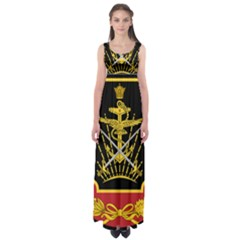 Logo Of Imperial Iranian Ministry Of War Empire Waist Maxi Dress