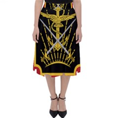 Logo Of Imperial Iranian Ministry Of War Folding Skater Skirt