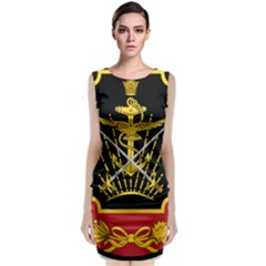 Logo Of Imperial Iranian Ministry Of War Classic Sleeveless Midi Dress