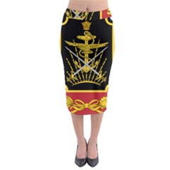Logo Of Imperial Iranian Ministry Of War Midi Pencil Skirt