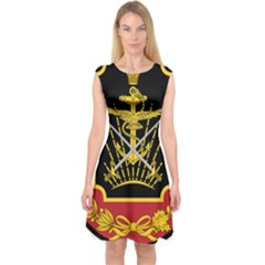 Logo Of Imperial Iranian Ministry Of War Capsleeve Midi Dress