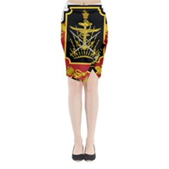 Logo Of Imperial Iranian Ministry Of War Midi Wrap Pencil Skirt