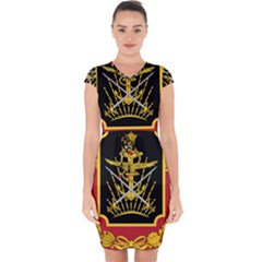 Logo Of Imperial Iranian Ministry Of War Capsleeve Drawstring Dress